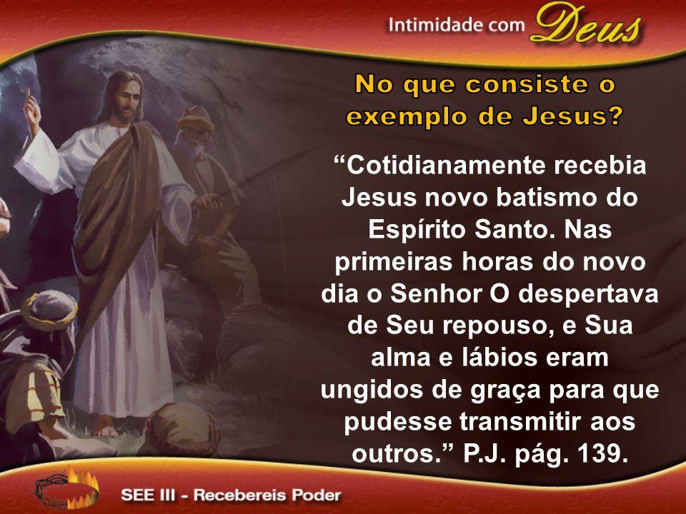 No que consiste o exemplo de Jesus