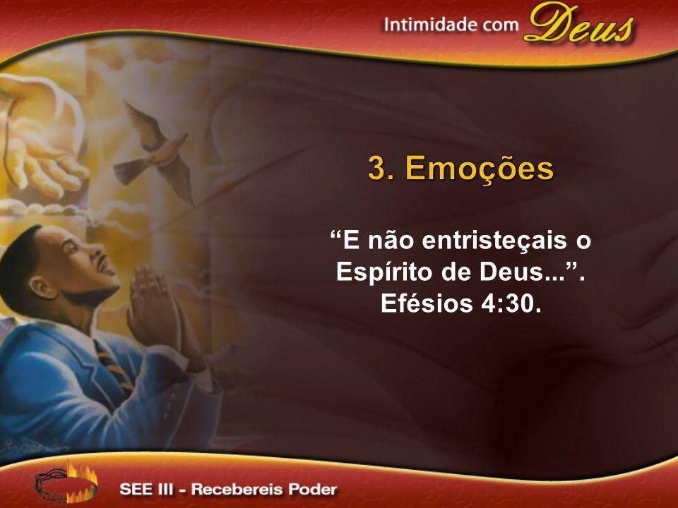E não entristeçais o Espírito de Deus... . Efésios 4:30.