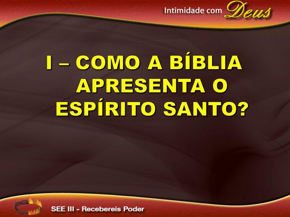 I – Como a Bíblia apresenta o Espírito santo