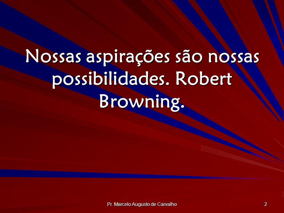 Nossas aspirações são nossas possibilidades. Robert Browning.