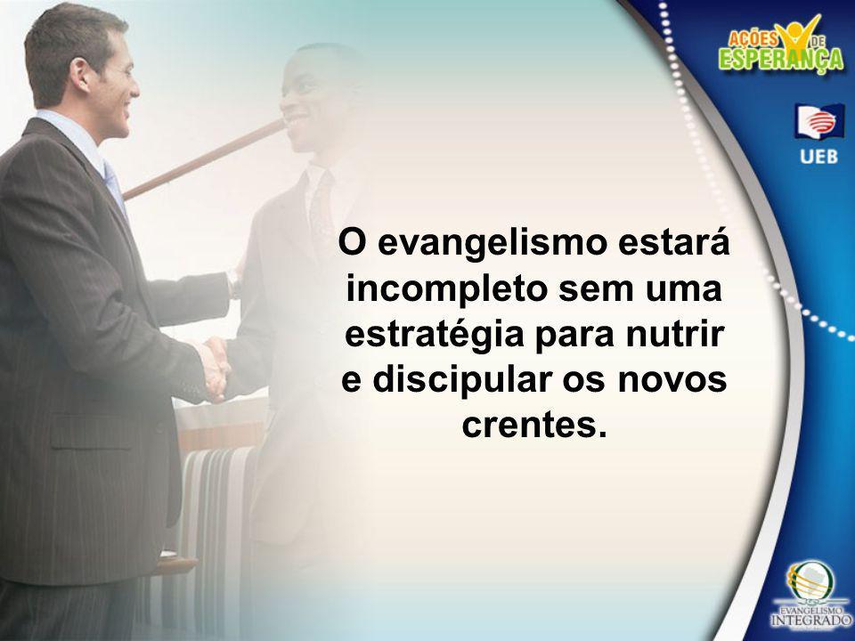 O evangelismo estará incompleto sem uma estratégia para nutrir e discipular os novos crentes.