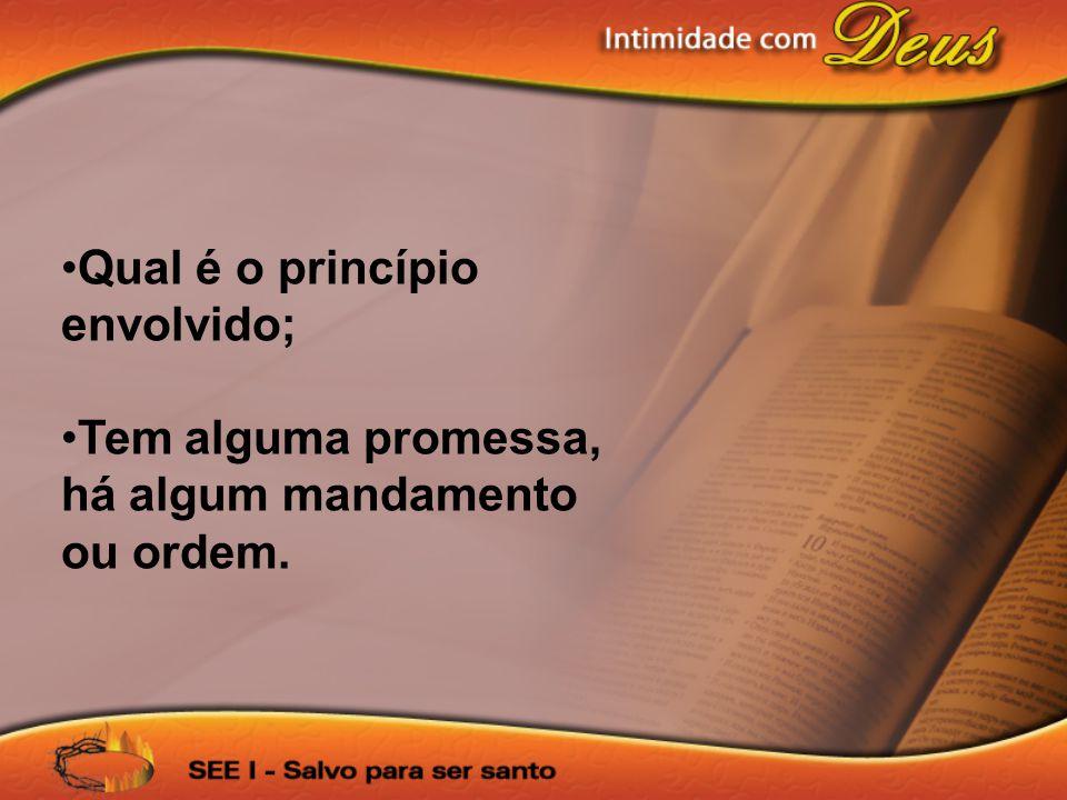 Qual é o princípio envolvido;