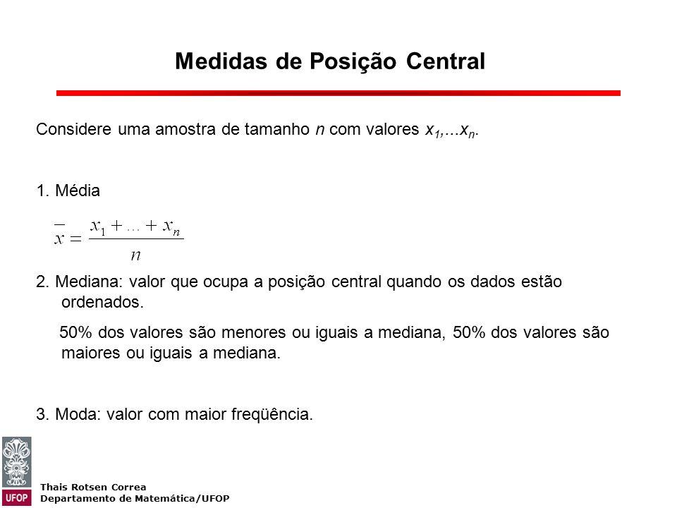 Medidas de Posição Central