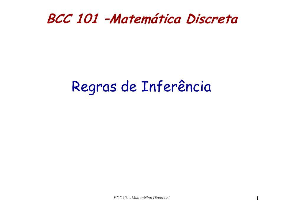 BCC 101 –Matemática Discreta