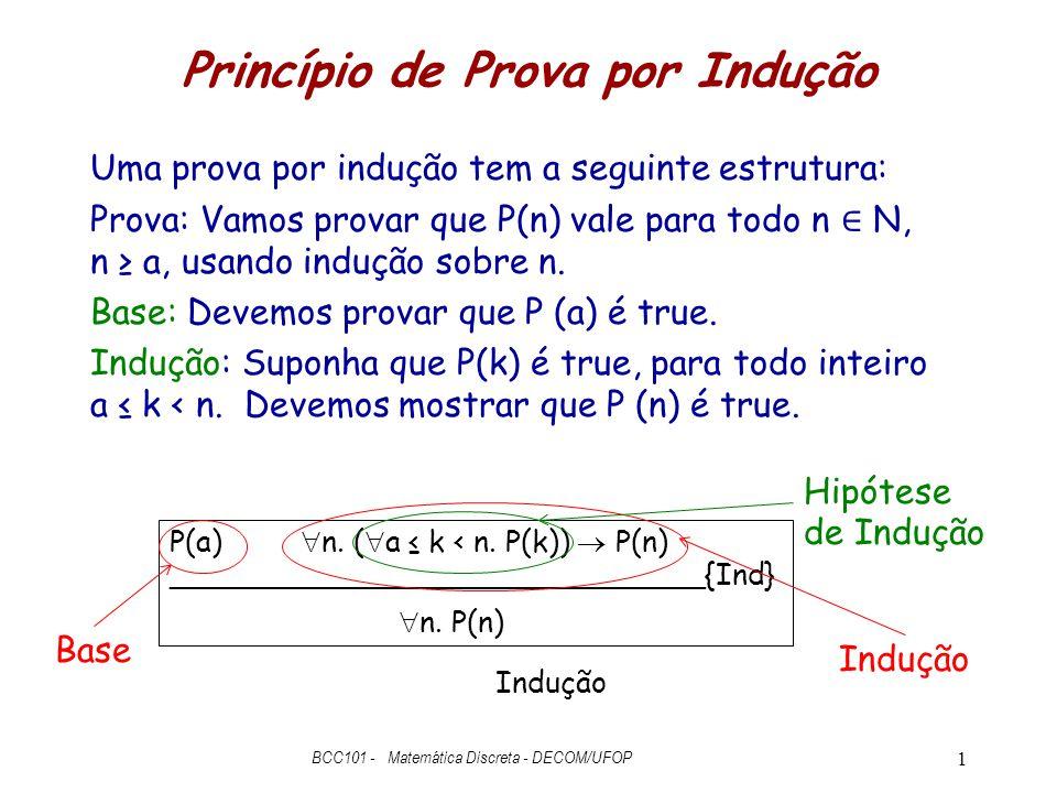 Princípio de Prova por Indução