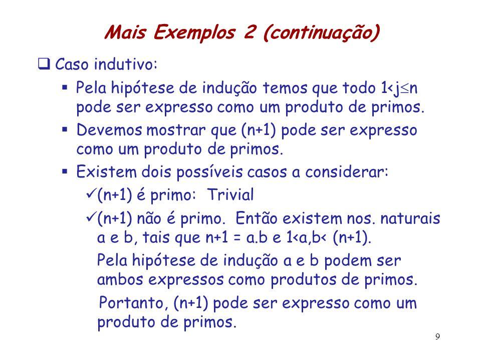 Mais Exemplos 2 (continuação)