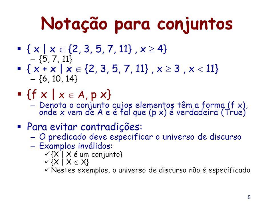 Notação para conjuntos