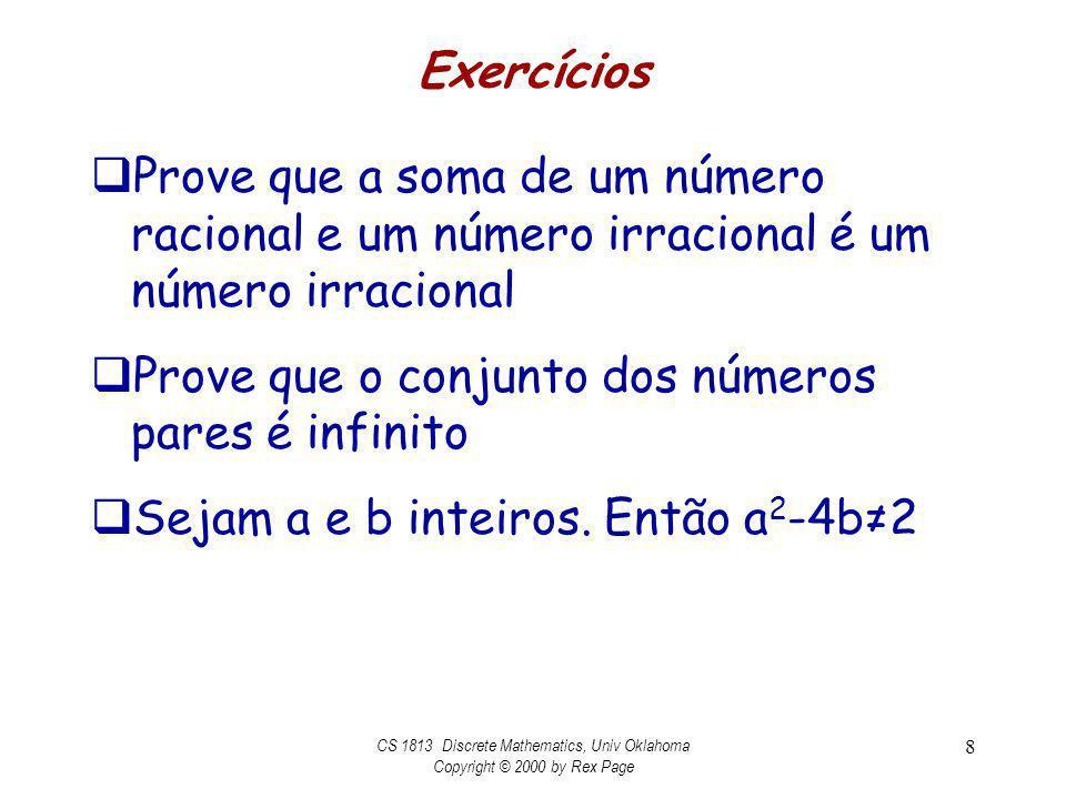 CS 1813 Discrete Mathematics, Univ Oklahoma