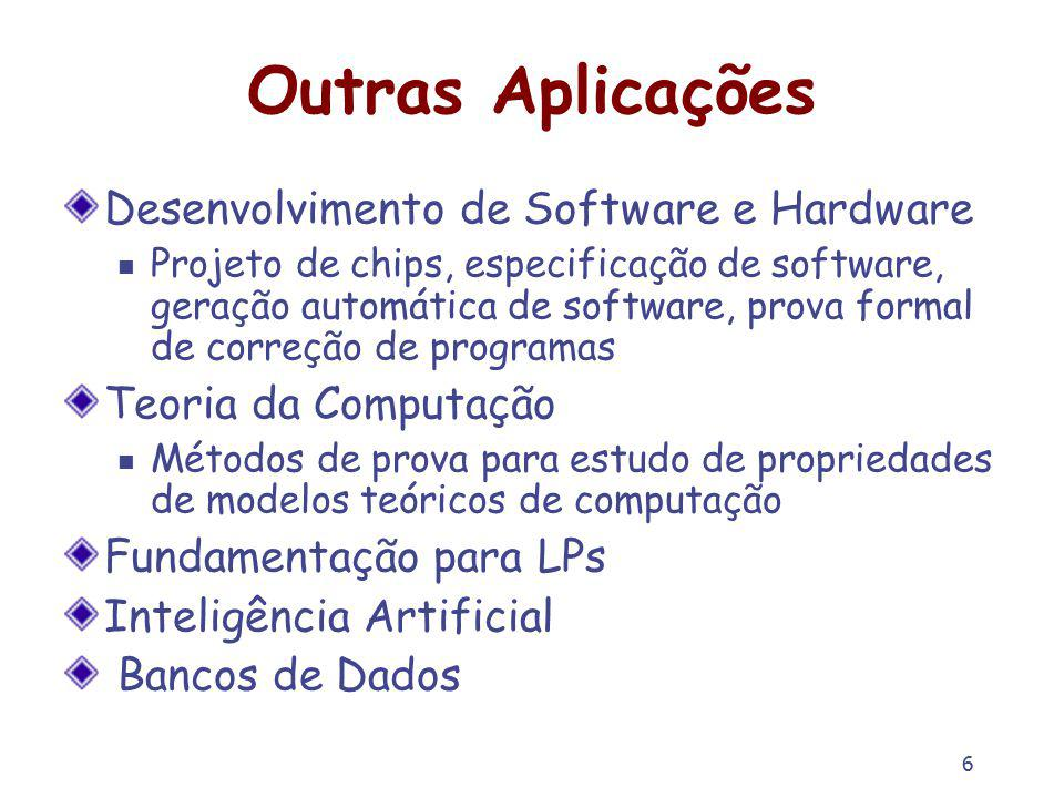 Outras Aplicações Desenvolvimento de Software e Hardware