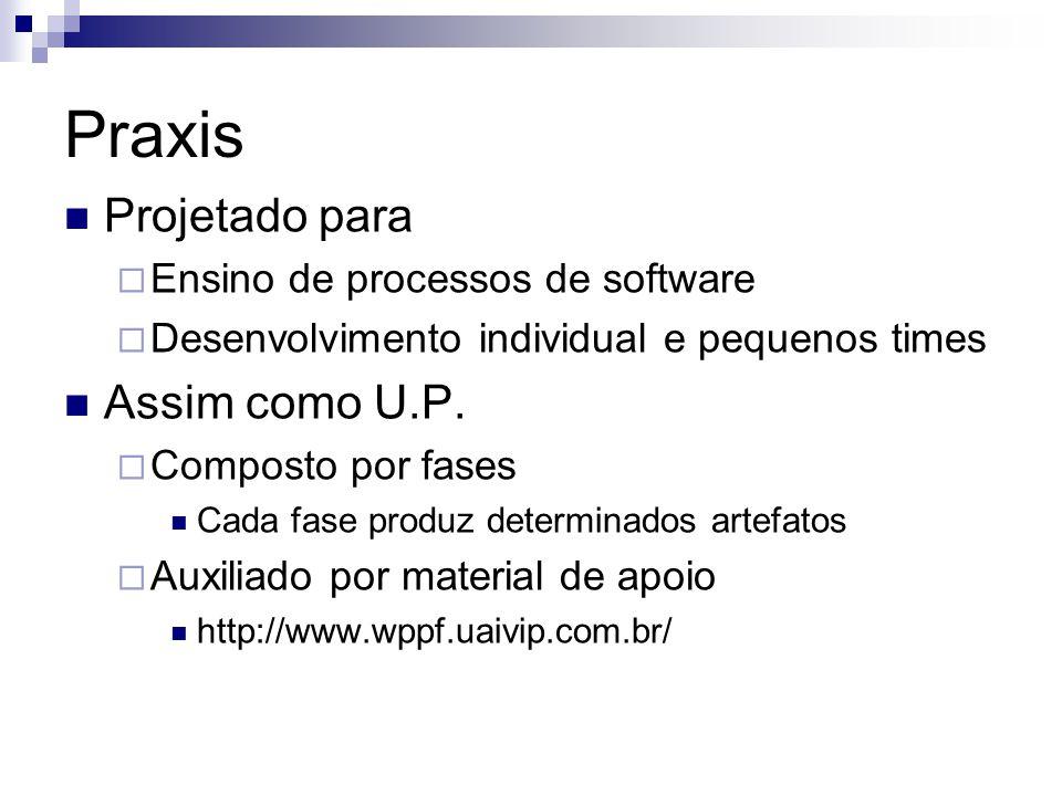 Praxis Projetado para Assim como U.P. Ensino de processos de software