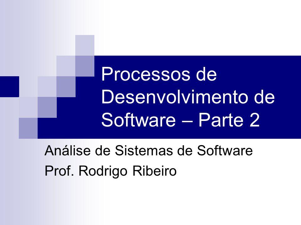 Processos de Desenvolvimento de Software – Parte 2