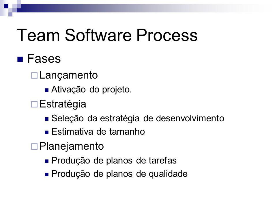 Team Software Process Fases Lançamento Estratégia Planejamento