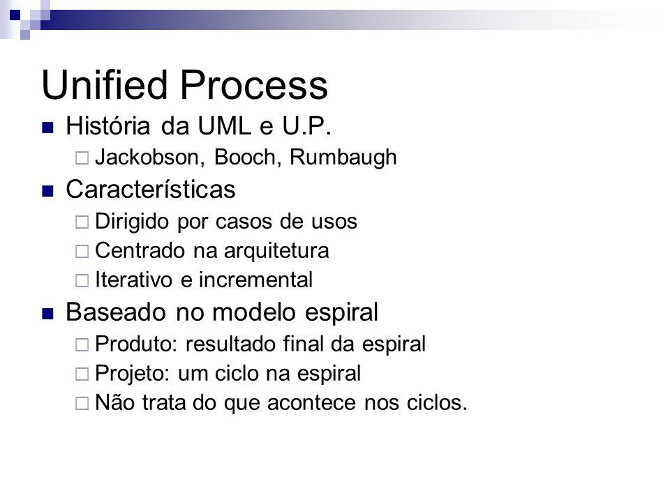 Unified Process História da UML e U.P. Características