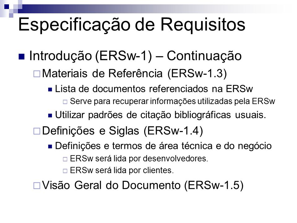 Especificação de Requisitos