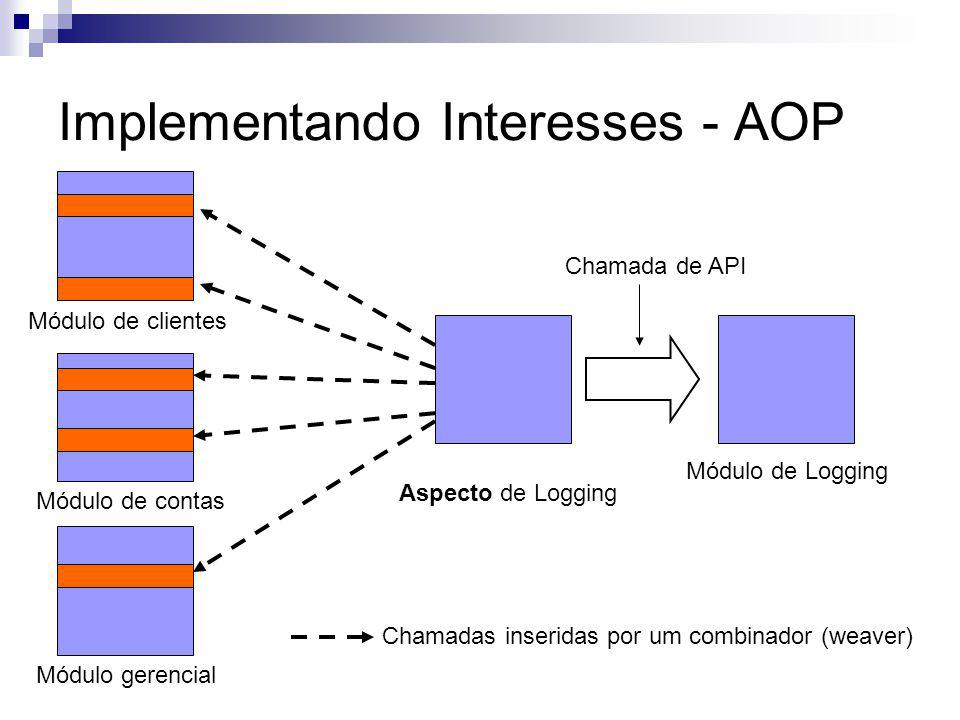 Implementando Interesses - AOP