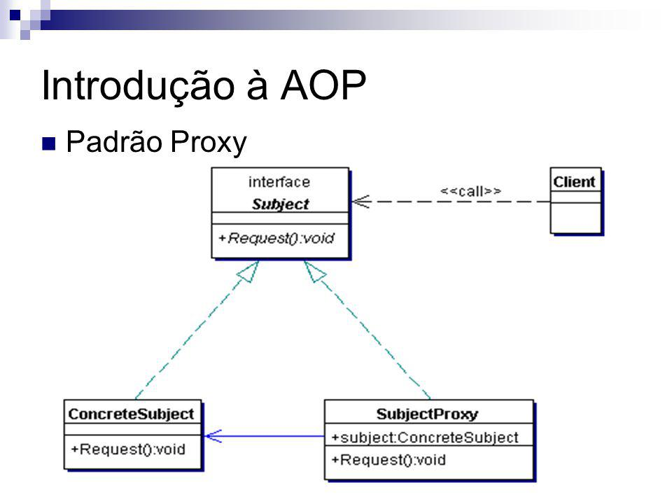 Introdução à AOP Padrão Proxy