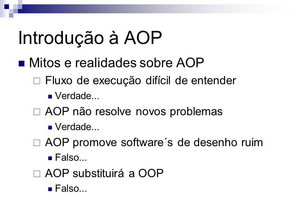 Introdução à AOP Mitos e realidades sobre AOP
