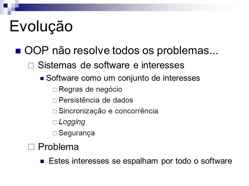 Evolução OOP não resolve todos os problemas... Problema