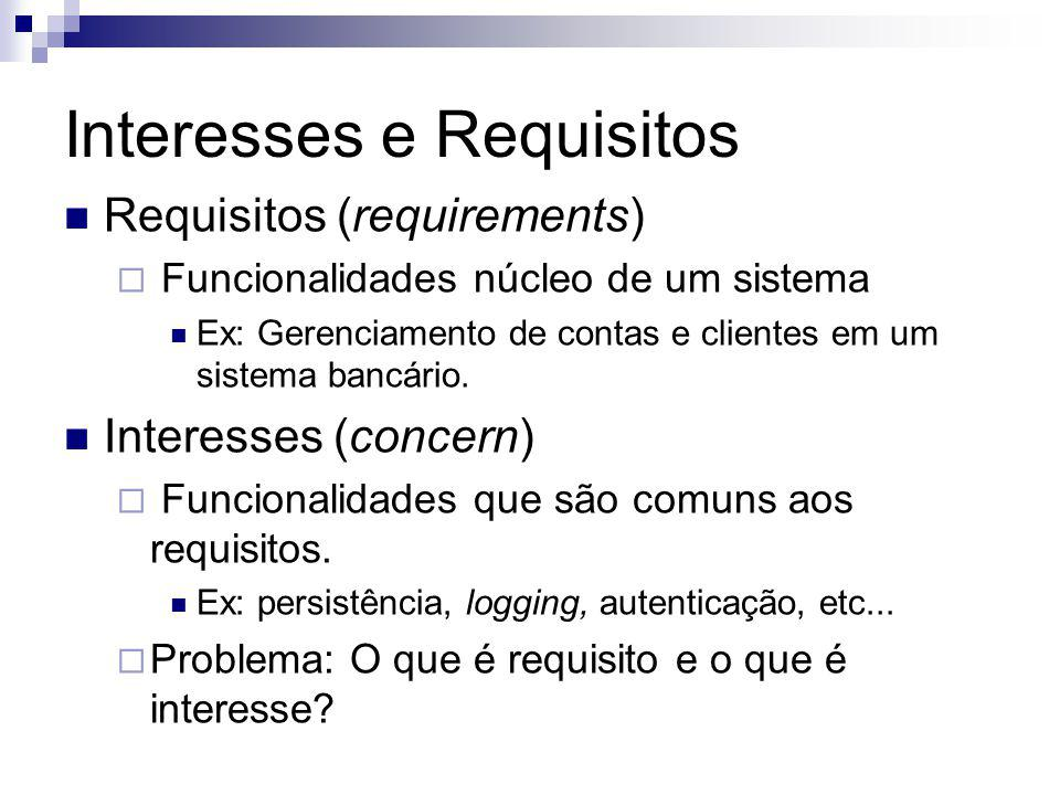 Interesses e Requisitos