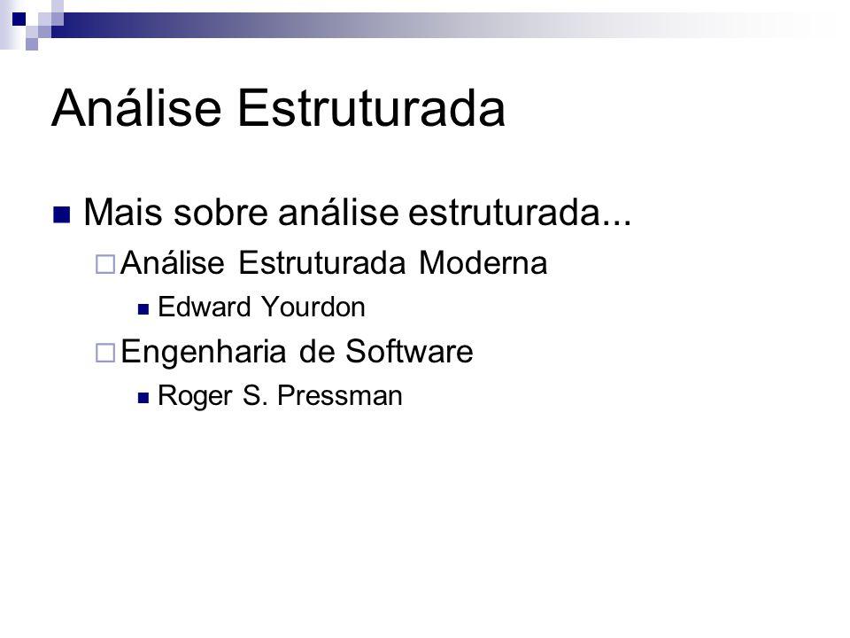 Análise Estruturada Mais sobre análise estruturada...