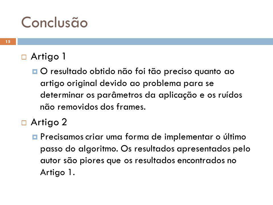 Conclusão Artigo 1 Artigo 2