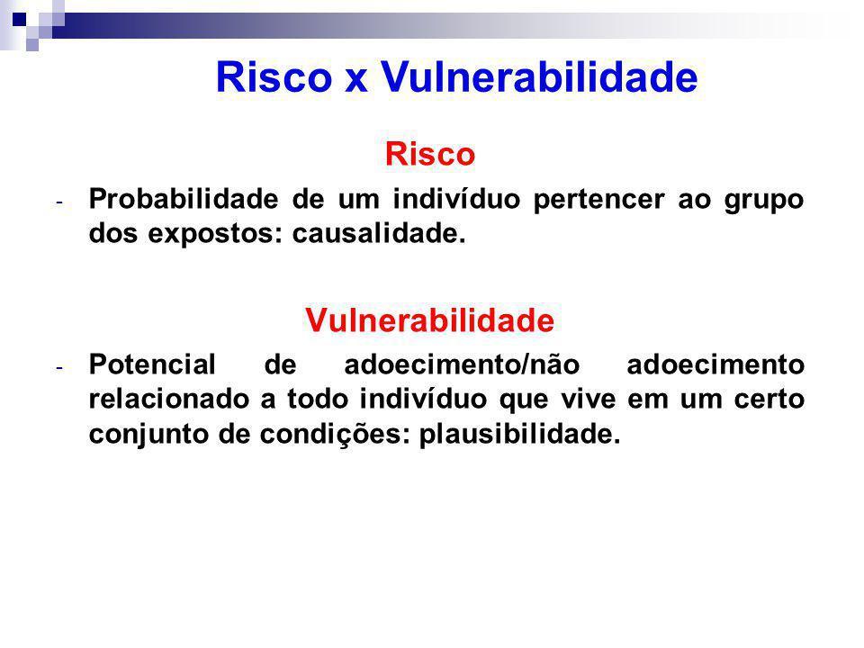 Risco x Vulnerabilidade