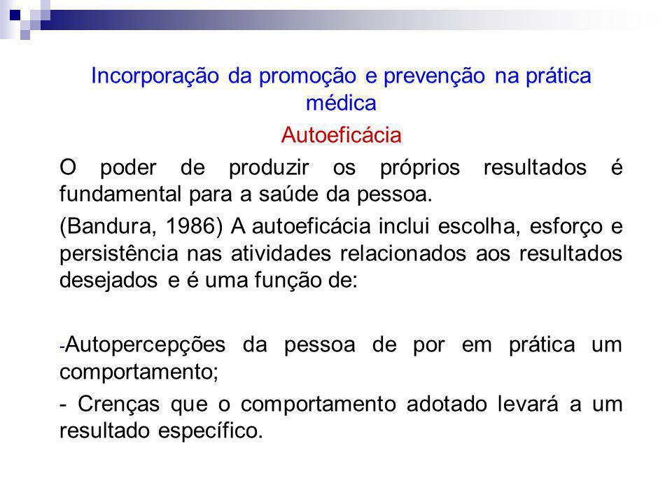 Incorporação da promoção e prevenção na prática médica