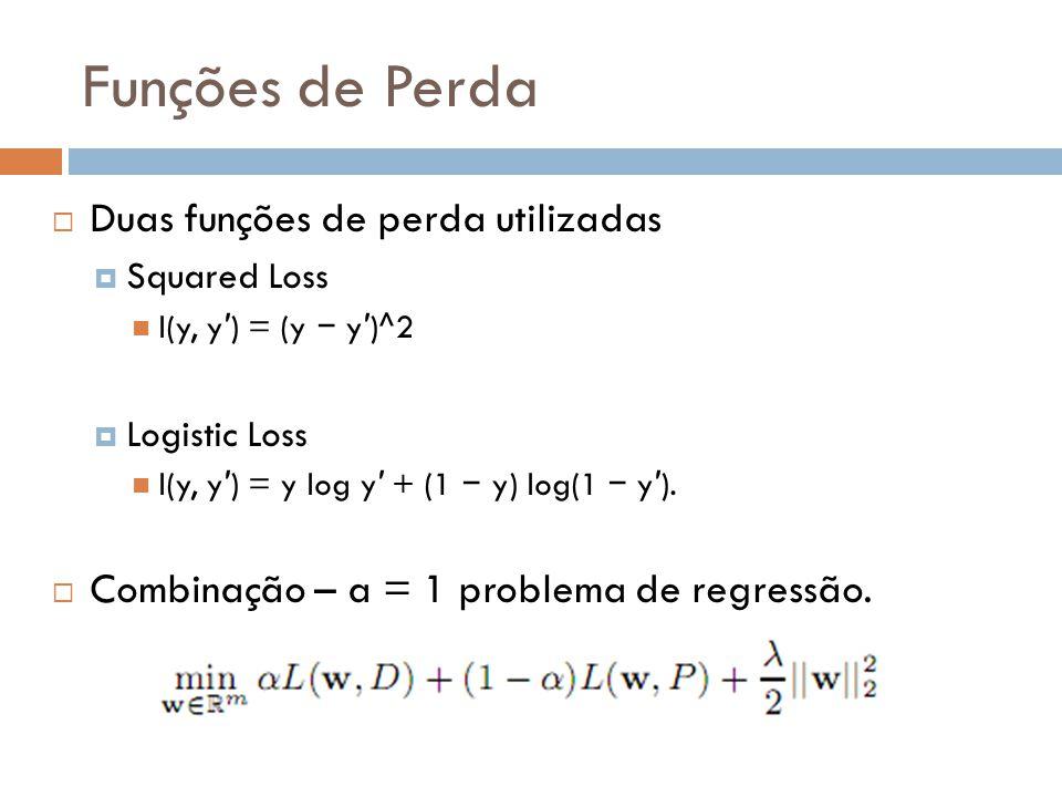 Funções de Perda Duas funções de perda utilizadas