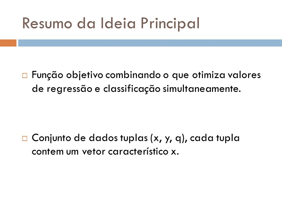 Resumo da Ideia Principal