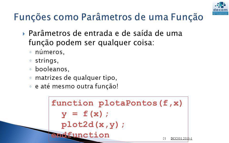 Funções como Parâmetros de uma Função