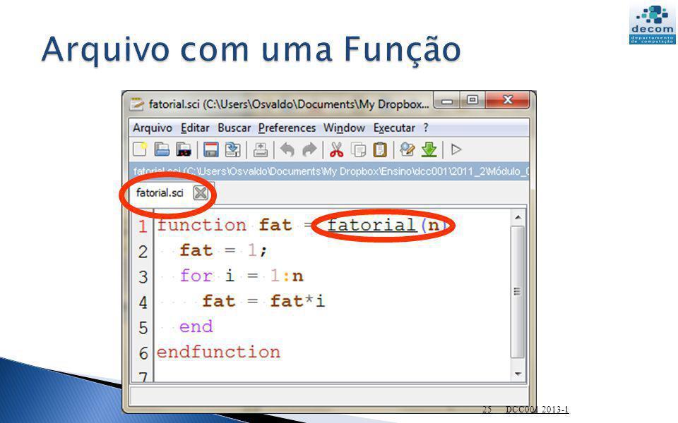 Arquivo com uma Função DCC001 2013-1