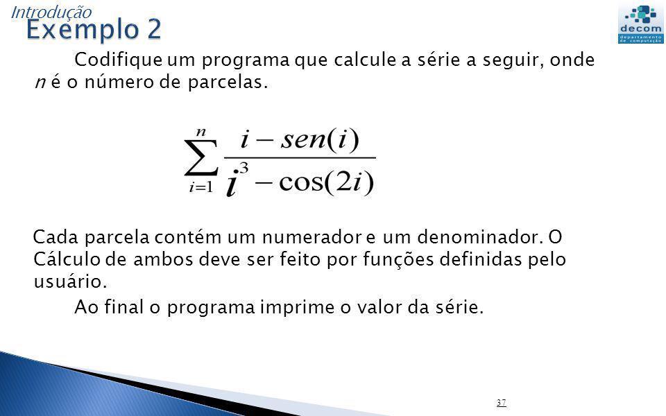 Introdução Exemplo 2.