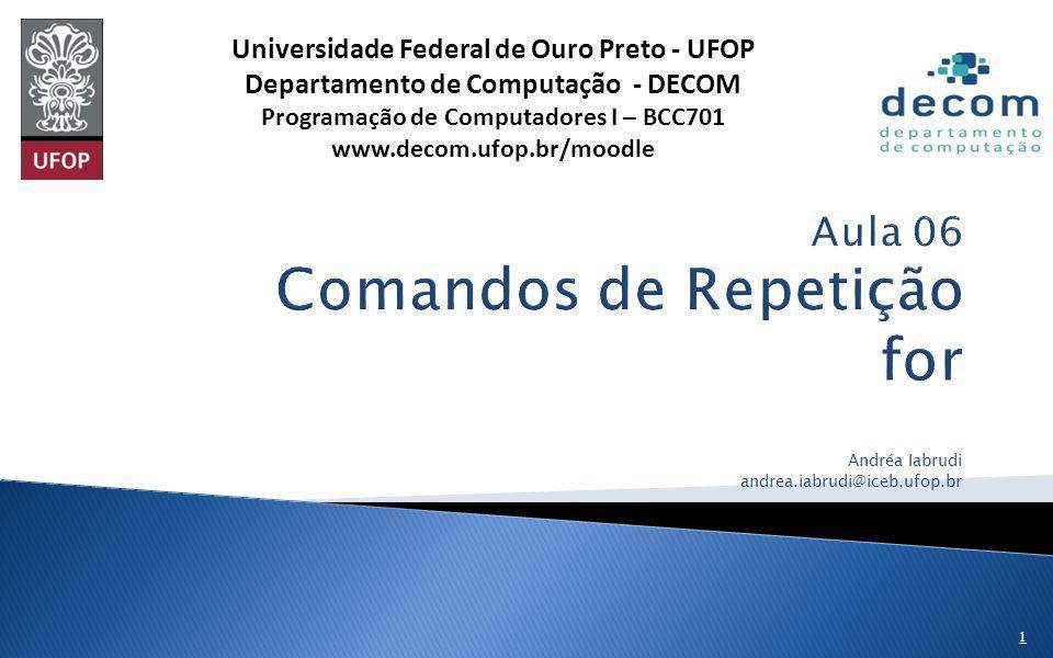 Aula 06 Comandos de Repetição for