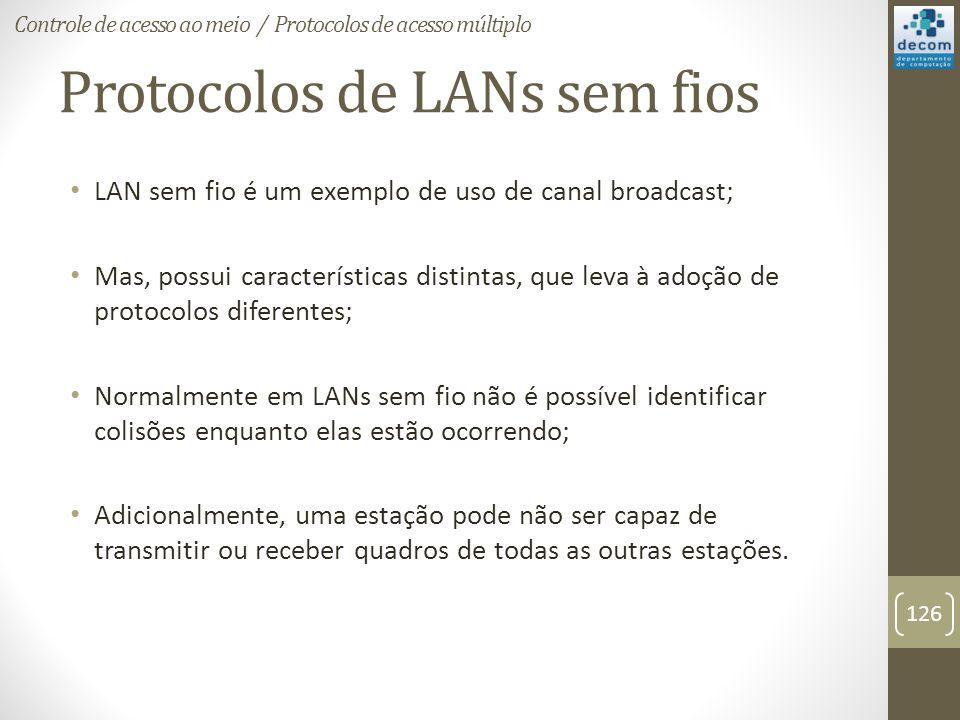 Protocolos de LANs sem fios