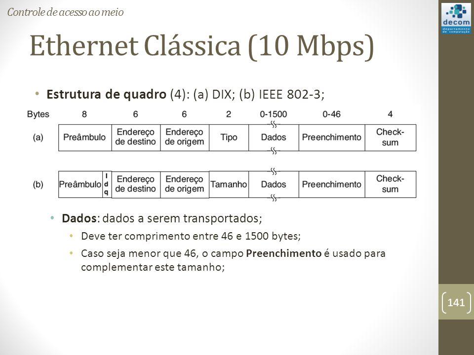 Ethernet Clássica (10 Mbps)