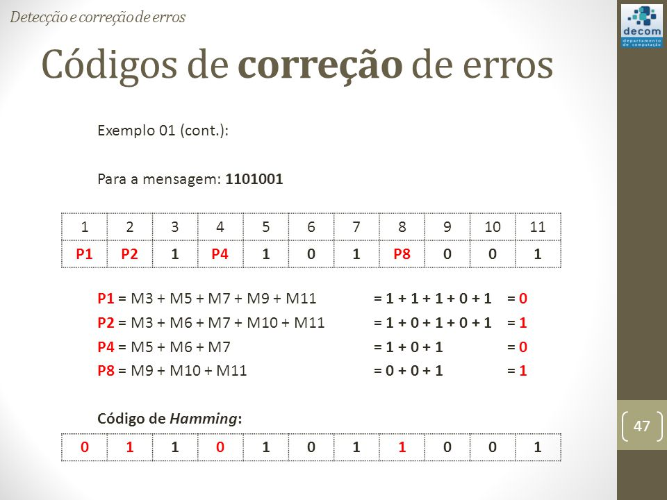 Códigos de correção de erros