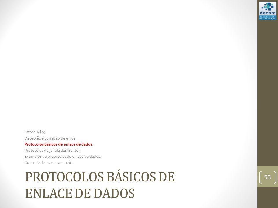 Protocolos básicos de enlace de dados