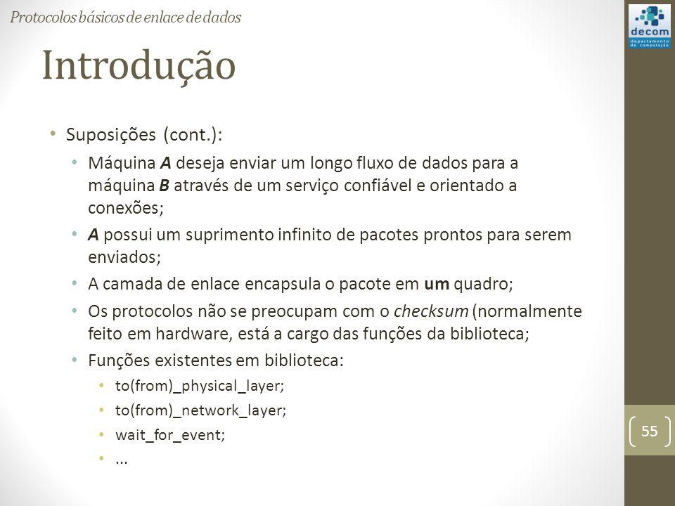 Introdução Suposições (cont.):