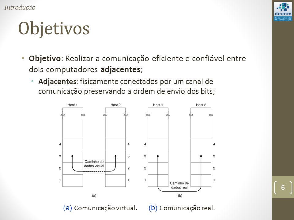 (a) Comunicação virtual. (b) Comunicação real.