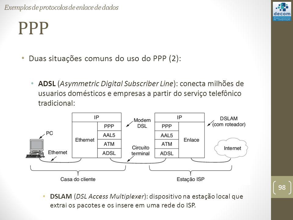PPP Duas situações comuns do uso do PPP (2):