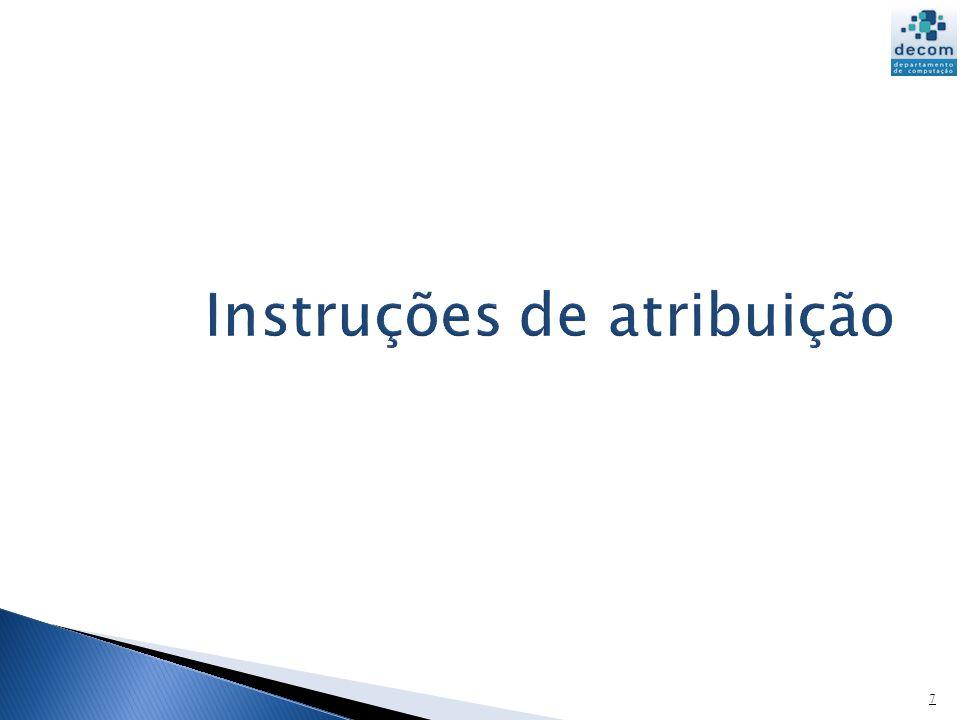 Instruções de atribuição