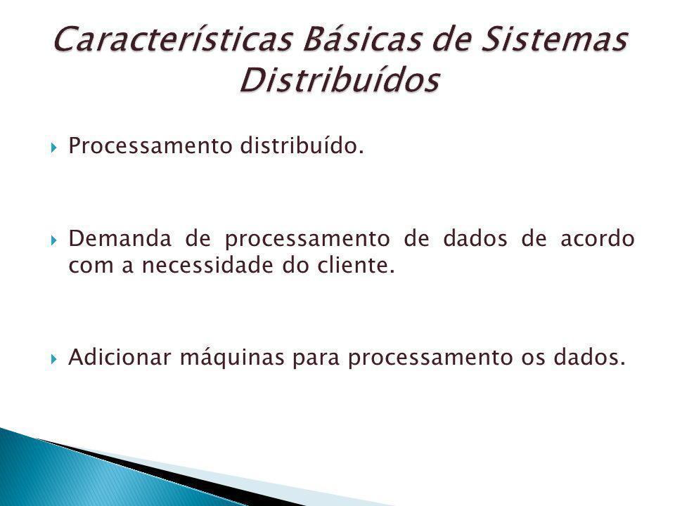 Características Básicas de Sistemas Distribuídos