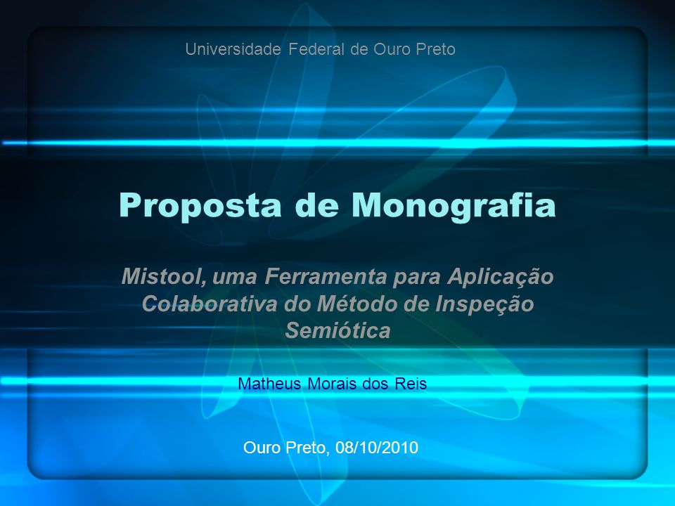Proposta de Monografia