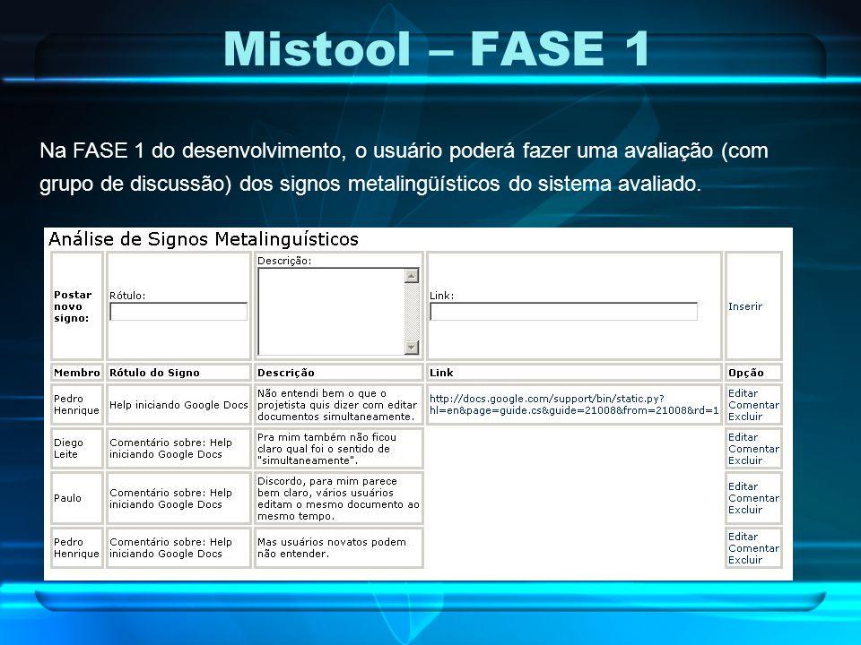 Mistool – FASE 1