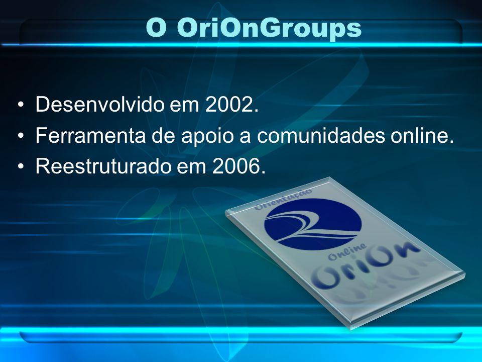 O OriOnGroups Desenvolvido em 2002.