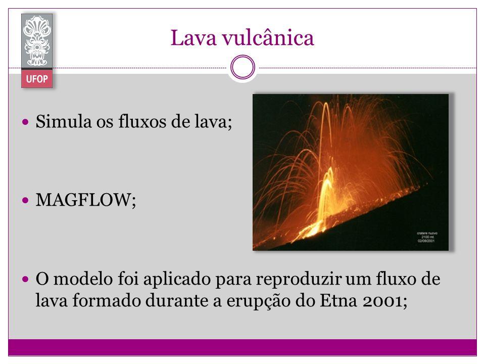 Lava vulcânica Simula os fluxos de lava; MAGFLOW;