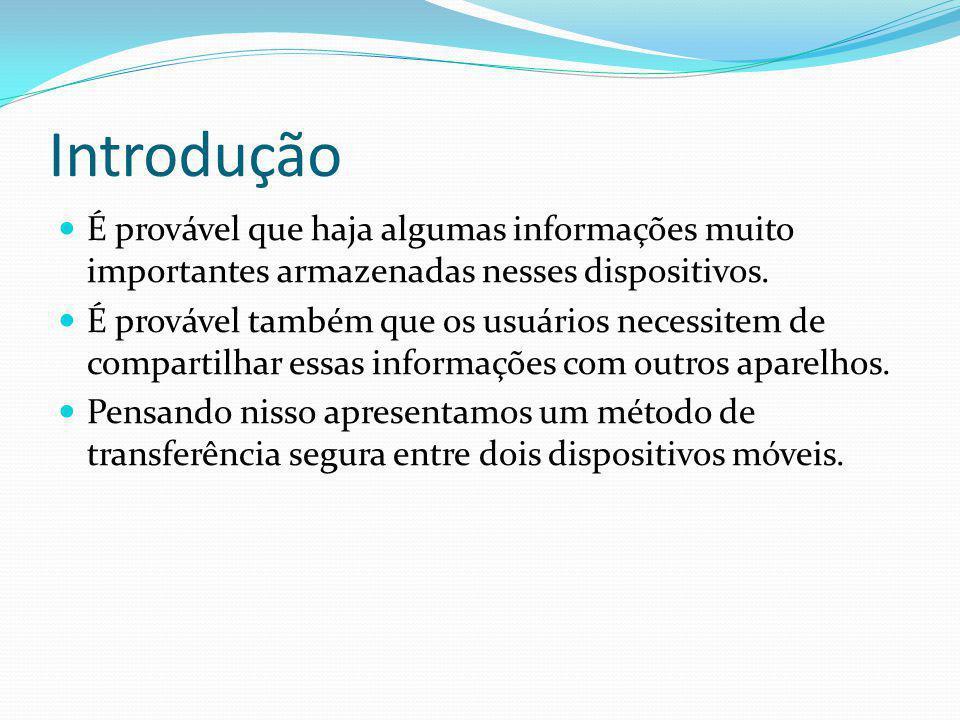 Introdução É provável que haja algumas informações muito importantes armazenadas nesses dispositivos.