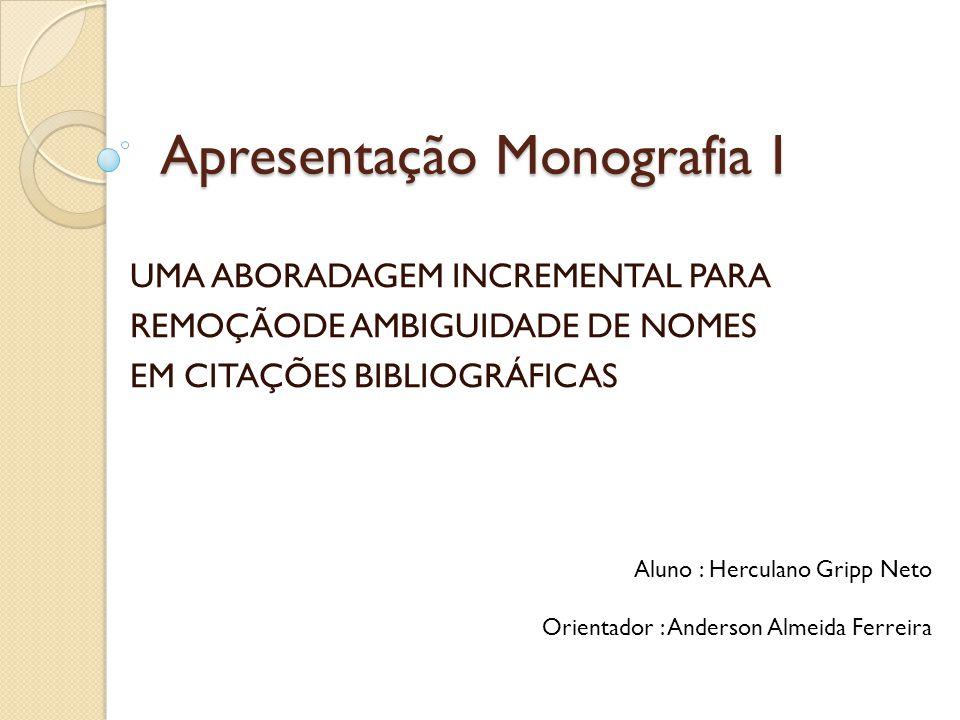 Apresentação Monografia I