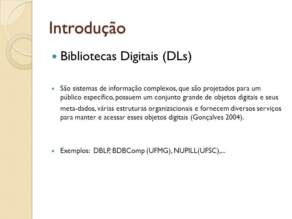 Introdução Bibliotecas Digitais (DLs)