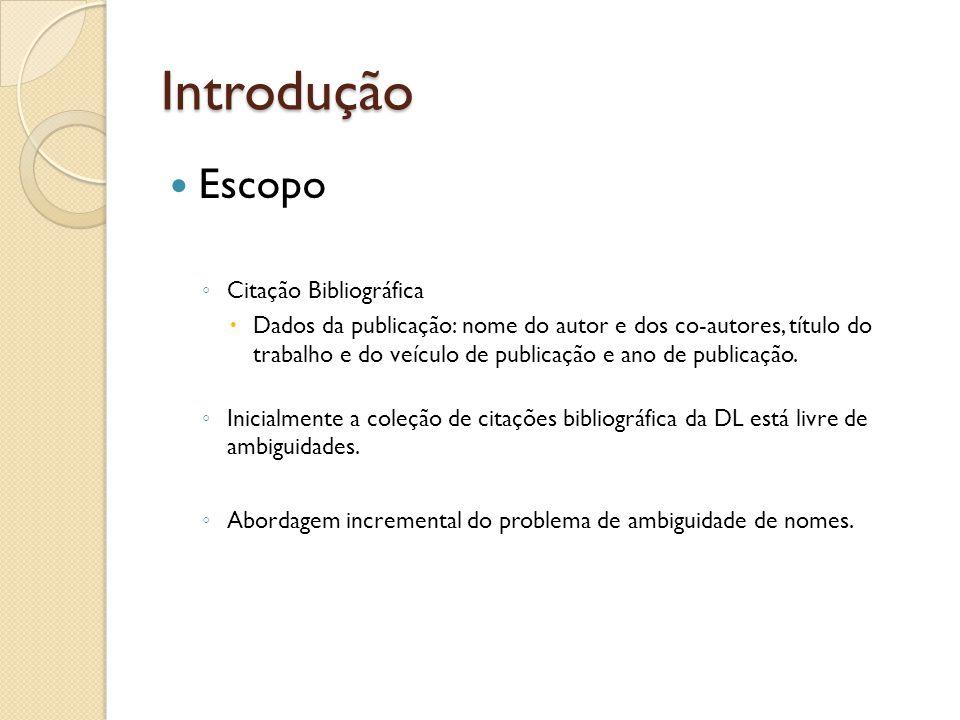 Introdução Escopo Citação Bibliográfica